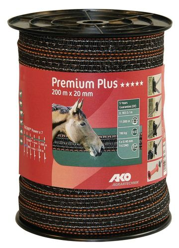 Premium Plus Weidezaunband 20 mm 200m